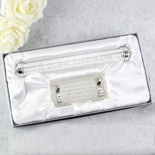 Church Silver Plated Certificate Holder